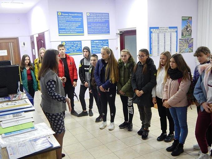 Радомишльським школярам допомогли відшукати орієнтири у виборі професії