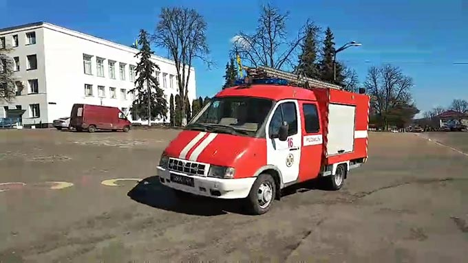 У Радомишлі організовано курсування автомобіля оперативно-рятувальної служби, обладнаного гучномовним пристроєм