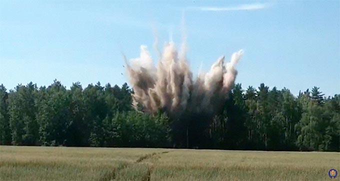 У Радомишльському районі знищили 2 вибухонебезпечні предмети часів минулих війн