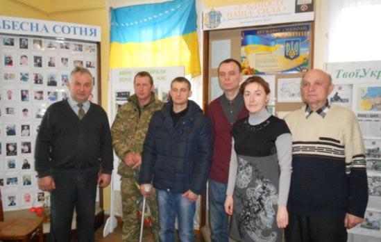 У Радомишлі відбулася зустріч учнів Радомишльського ліцею № 1 з учасниками АТО на Сході України. ФОТО