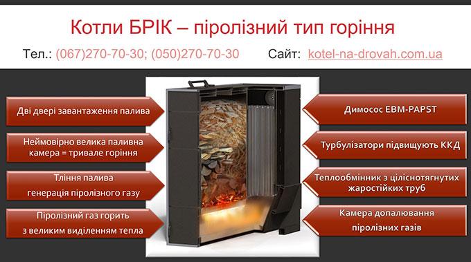 Котел БРІК - революційна модель твердопаливного котла. [Р]