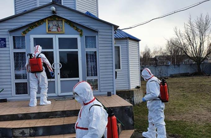 У Радомишлі провели знезараження об'єктів, де виявлено випадок захворювання на коронавірус