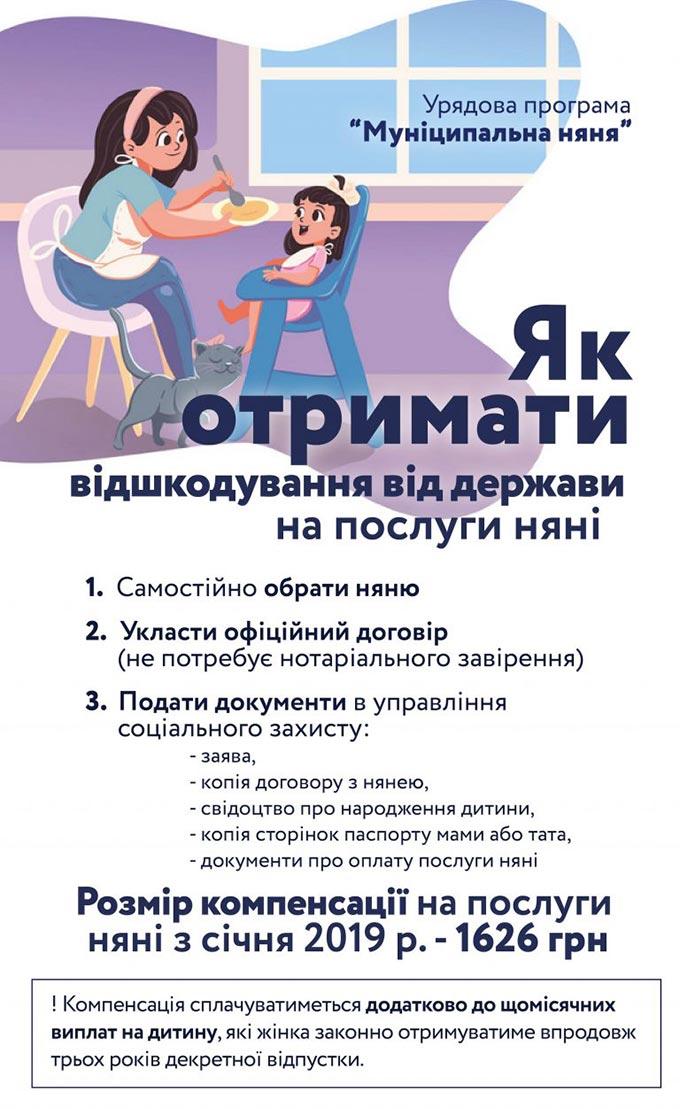 В області вже 16 родин подали заявки на оформлення державної допомоги «Муніципальна няня»