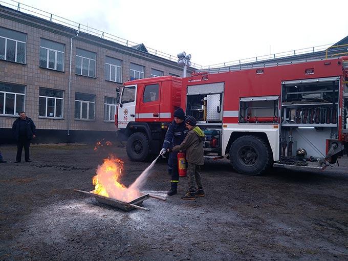 Радомишльські рятувальники провели акцію «Запобігти. Врятувати. Допомогти» в Кочерівській ЗОШ. + ФОТО