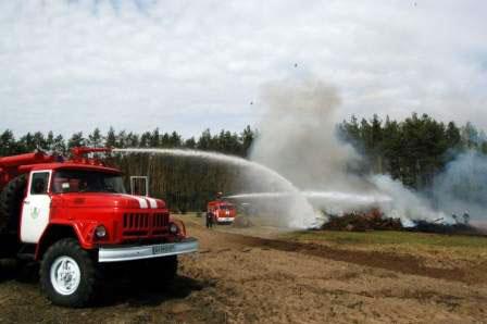 В Радомишльському лісгоспі провели навчання з організації ліквідації пожеж. + ФОТО