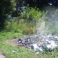 Жителі міста заявляють, що з недавніх пір у міському парку замість того, щоб вивозити сміття його просто спалюють не вивозячи за межі зони відпочинку. Проте, раніше звалище сміття було досить непримітних розмірів, тепер же купа непотребу значно зросла у розмірах. Їдкий дим та сморід, від спалюваного сміття розповсюджується по всьому парку та найгірше, що поруч дитячий садок в якому діткам доводиться дихати цим отруйним повітрям. Та й на дворі шалена спека, в яку досить важко дихати, а тут ще й доводиться переносити сморід від спалених відходів. Дим від горіння сухої трави і листя є дуже шкідливим, оскільки містить у собі отруйні речовини, які шкодять здоров'ю мешканців. Це сполуки свинцю, ртуті та інших важких металів. А потрапляння у вогонь пластикового сміття робить дим особливо токсичним. Нагадаємо, що спалювання листя та сміття заборонене статтею № 152 кодексу України про Адміністративні правопорушення, тобто порушення правил благоустрою. Хто несе відповідальність і чи взагалі хтось відповідає за скоєне невідомо.